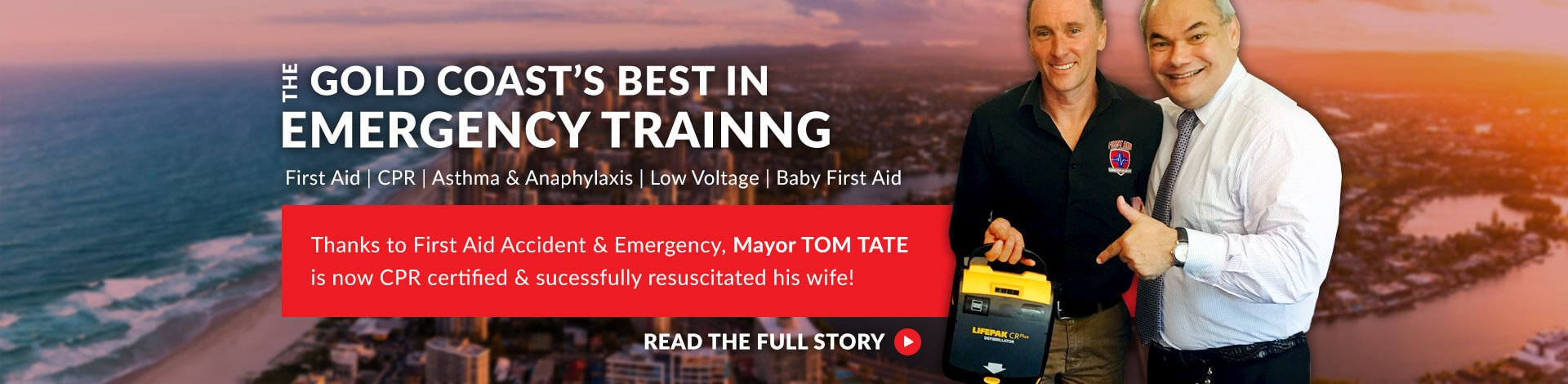 Mayor Tom Tate CPR Gold Coast