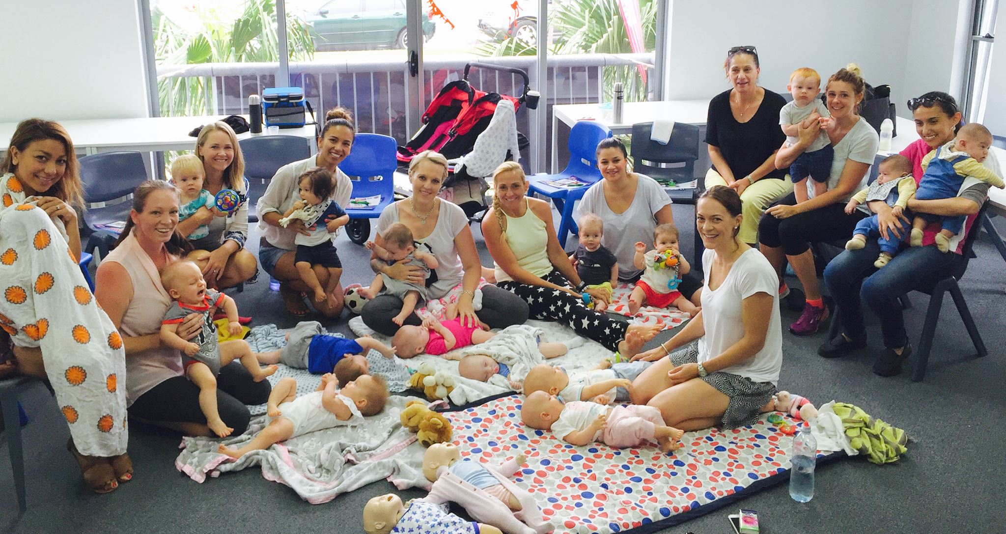 New born bubs and Mums in a First Aid and CPR Training course, for first aid for babies