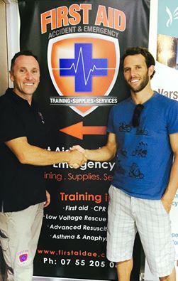 Brian Fuller and Scott Whimpey First Aid Courses Gold Coast