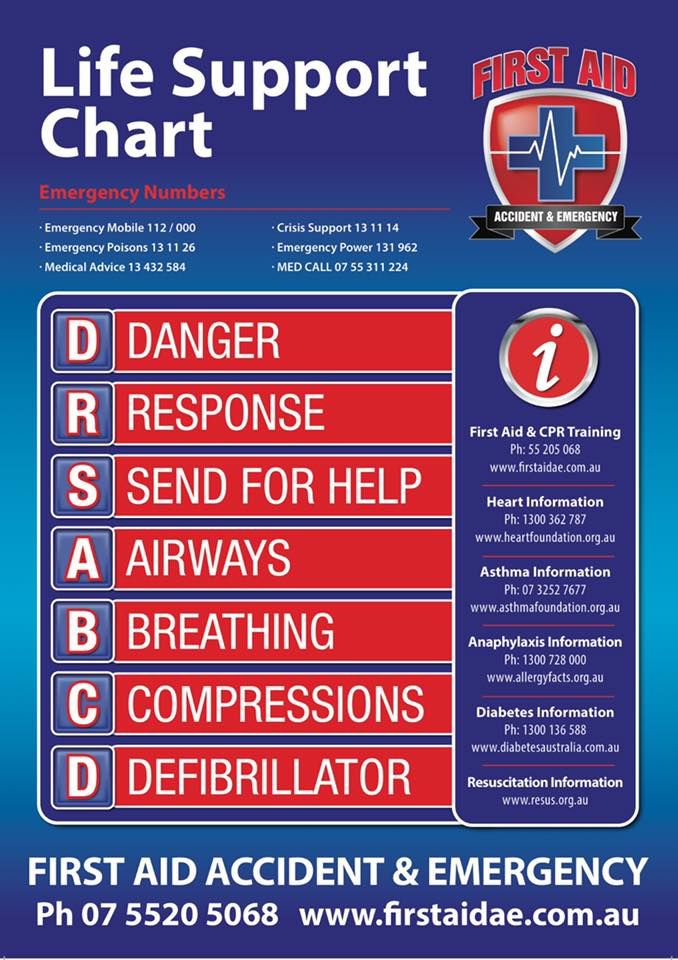 DRSABCD life support chart