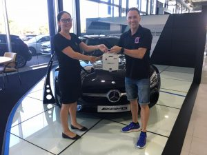 Scott and Megan with the new Mercedes Gold Coast Defibrillator