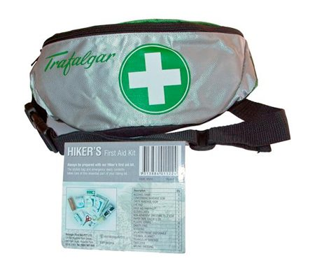 hiker and outdoor first aid kit
