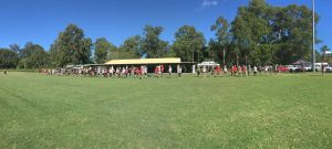 Kokoda Kids starting the BEEP test