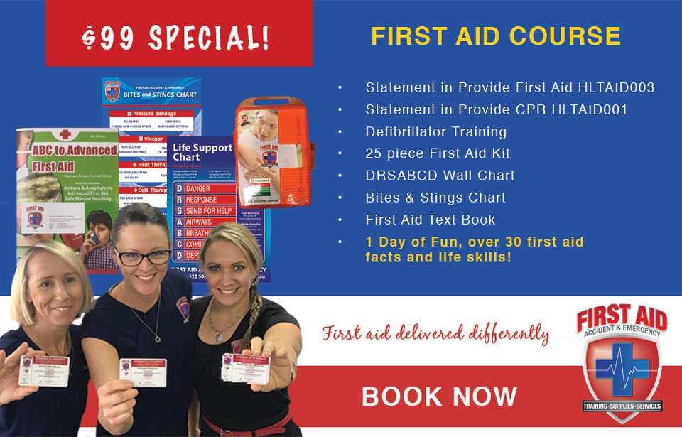 First Aid Course on Special Now