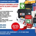workplace defibrillator pack with cabinet
