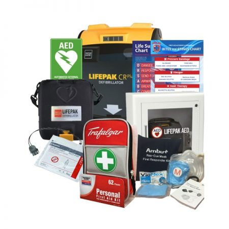 first aid defirbillator pack