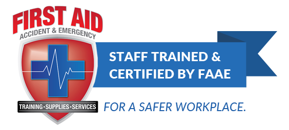 Staff trained and certified by FAAE