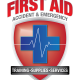first aid accident & emergency logo