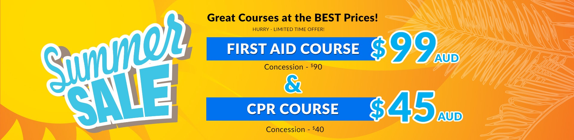 First aid course gold coast cpr course faae summer first aid course sale xflitez Gallery