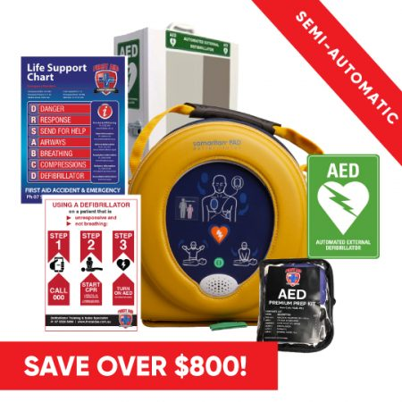 Heartsine 500P defib pack free delivery