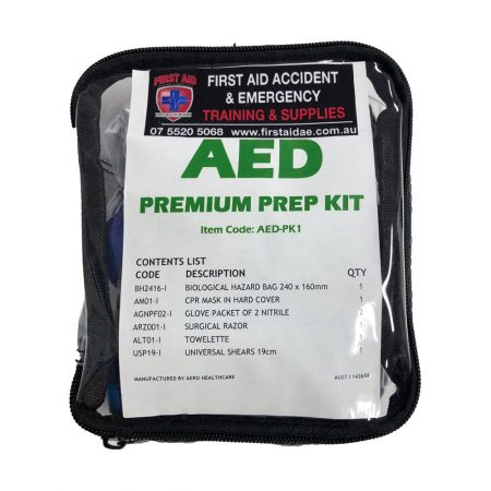 premium prep kit for AED defibrillator