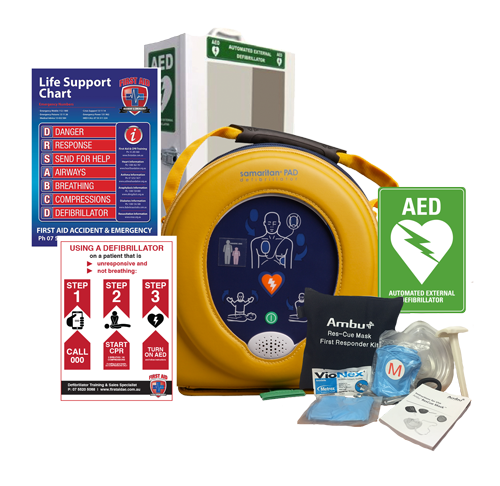 HeartSine AED with Cabinet Pack