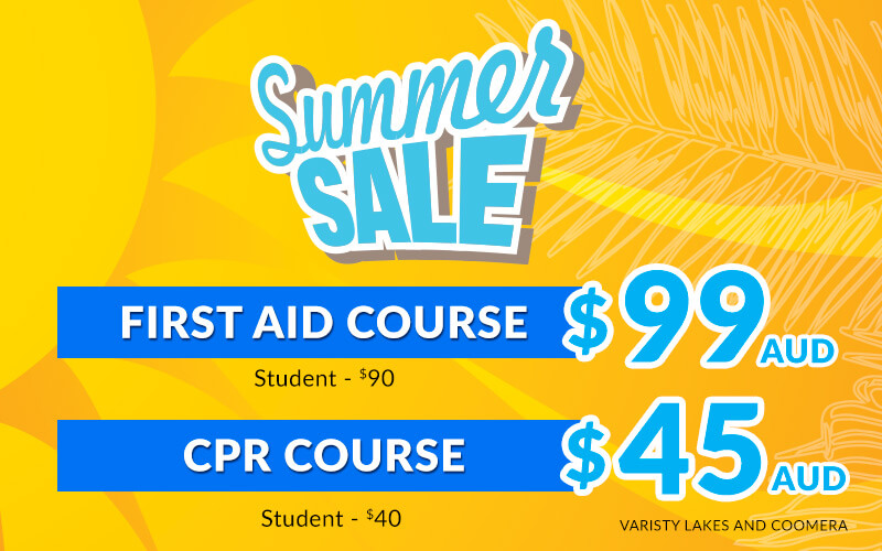 First Aid and CPR Course Summer Sale
