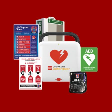 Lifepak CR2 Essential Defibrillator with Cabinet