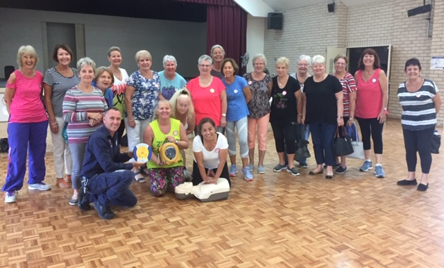 CPR and defibrillator course zumba