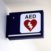 AED Defibrillator Wall Sign