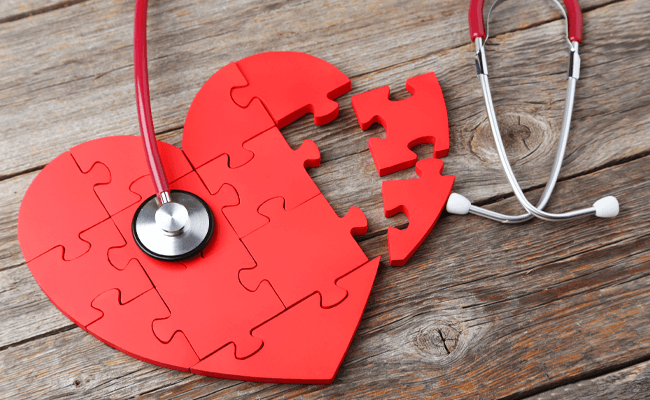 Heart Puzzle with Stethoscope