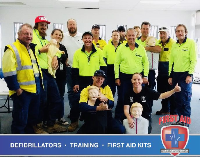 City of Gold Coast council staff in a First Aid Training Course