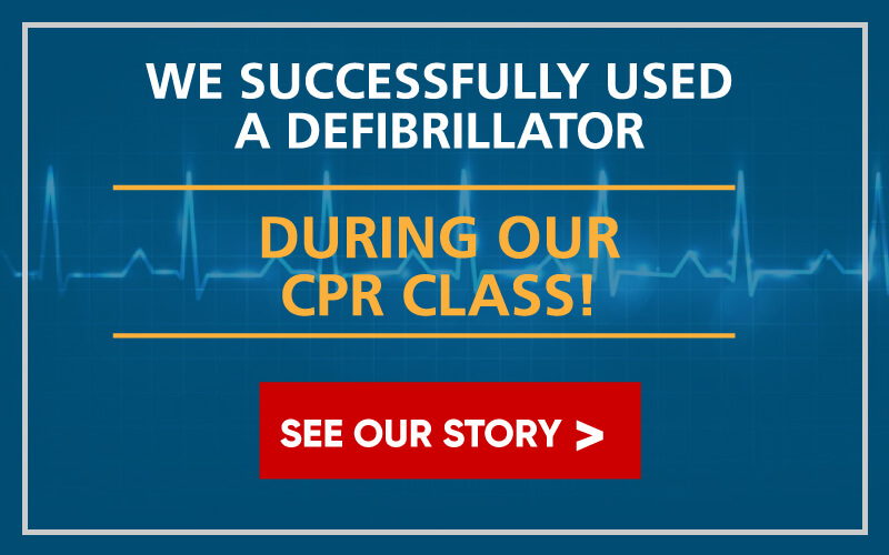 We successfully used a defibrillator during our CPR Class! See Our Story