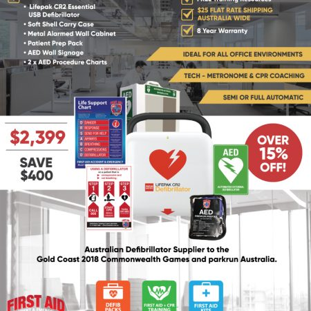 Lifepak CR2 Essential Corporate Defibrillator Pack