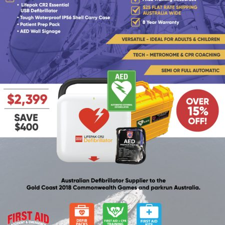 lifepak cr2 essential marine defibrillator pack
