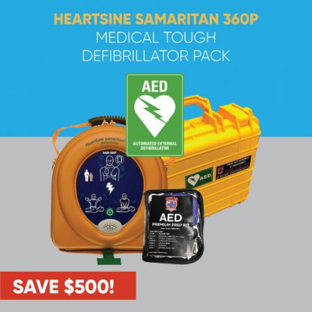Medical Defibrillator Pack HeartSine Tough Case