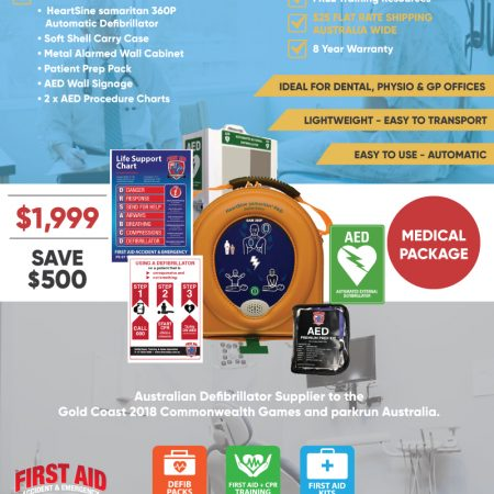 Medical Defibrillator pack HeartSine 360P