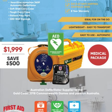 Medical Defibrillator pack HeartSine 360P tough case
