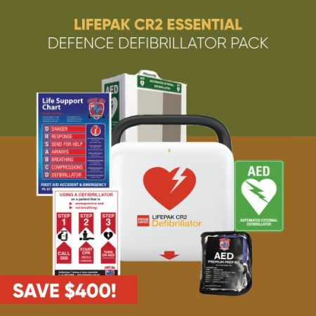 Lifepak CR2 Essential defence defibrillator pack