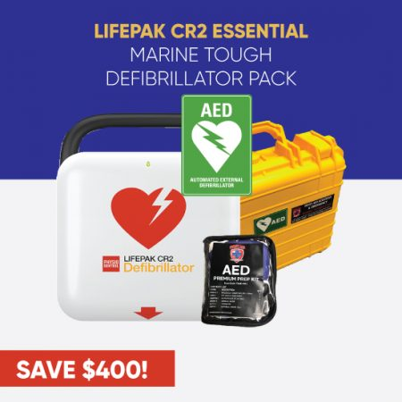 lifepak cr2 essential marine tough defibrillator pack
