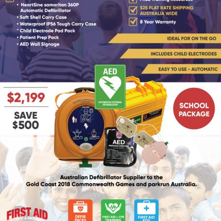 School Defibrillator with Tough Case