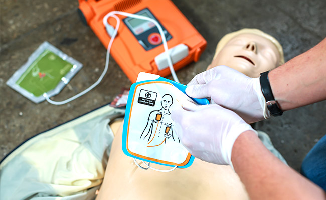 CPR with defibrillator